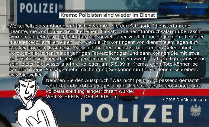 Polizisten dienstfrei