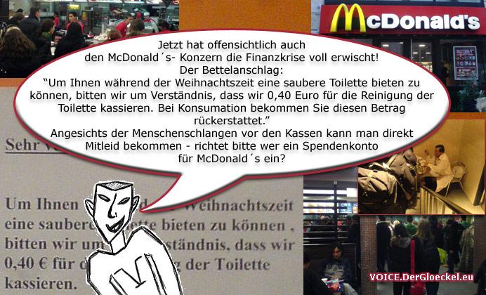 Finanzkrise bei McDonald´s