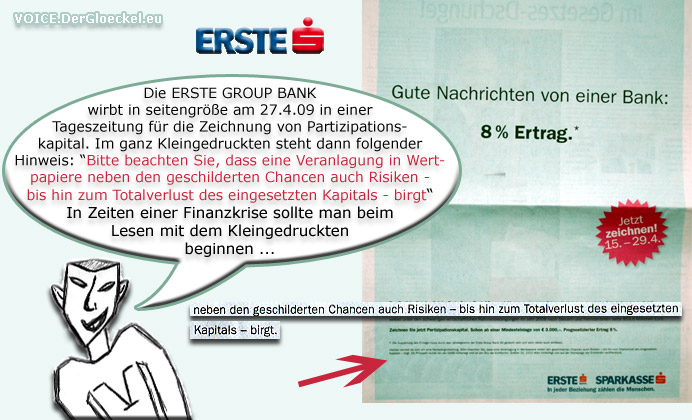 Finanzkrise ERSTE BANK