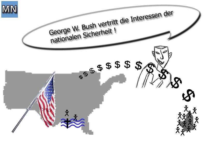 G. W. Bush und der Katastrophenschutz in den USA
