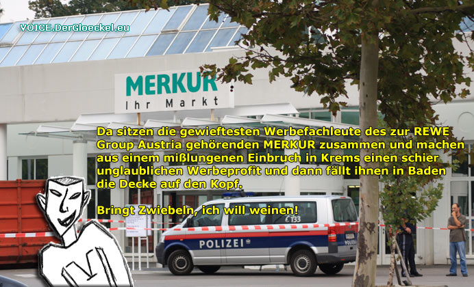 Unfall im Merkur-Markt in Baden